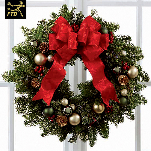 Barstow Flower Bridal Boutique : Christmas faux cardinal wreath barstow floral bridal